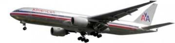 Fly American airline à Las Vegas