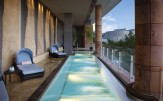 Aria Hotel spa pool Las Vegas